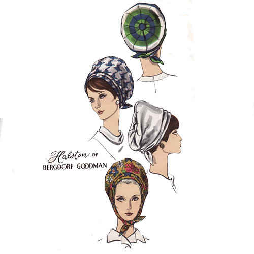 Vintage 1960's Halston Hat Turban Sewing Pattern