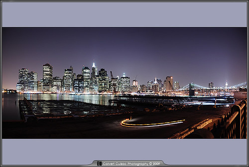 City Skyline From Brooklyn Promenade - Panoramic