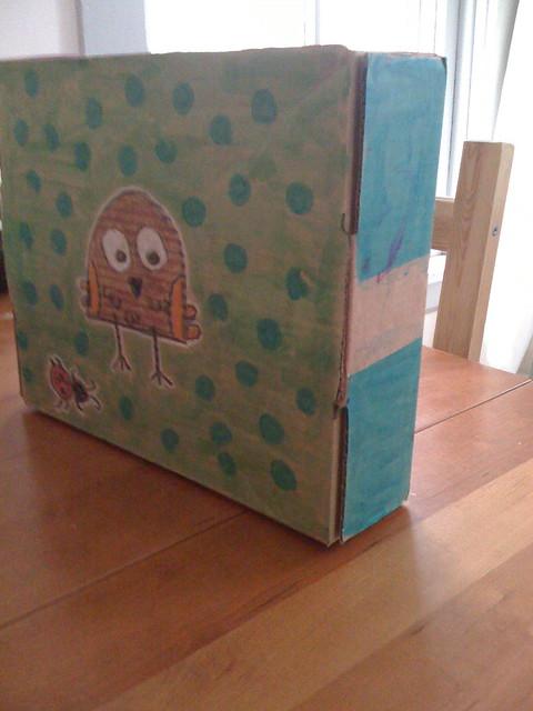 cardboard box painting the image kid