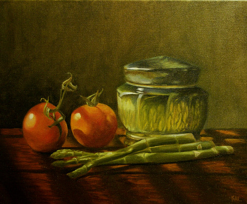 Still Life with Tomatoes and Asparagus