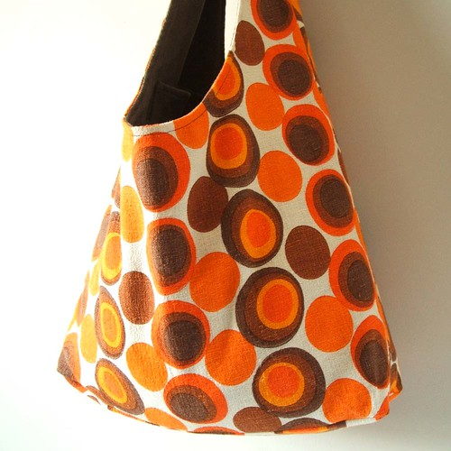 sunset dreams vintage fabric dilly tote