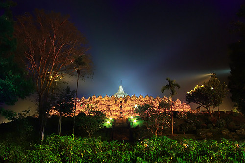 Borobudur Temple at night