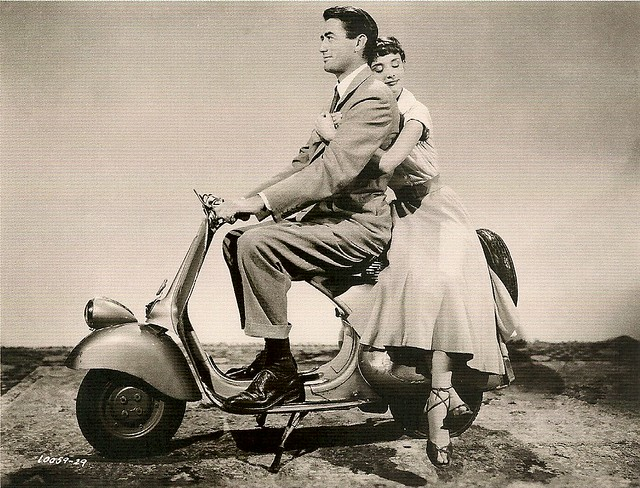Audrey Hepburn and Gregory Peck in Roman Holiday (1953)