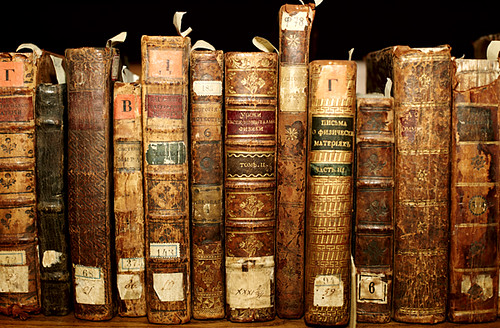 Book Cover Photography History : Collection of old hardcover books