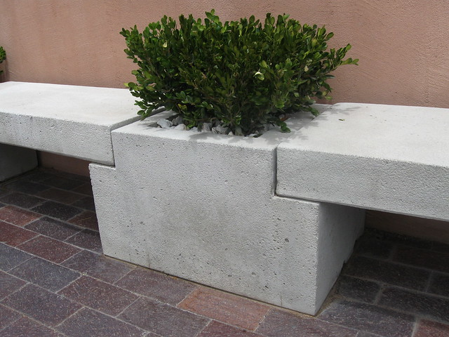 Cast concrete planter bench flickr photo sharing - Casting concrete planters ...