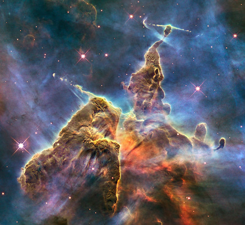 Hubble Captures View of Mystic Mountain - HUBBLE