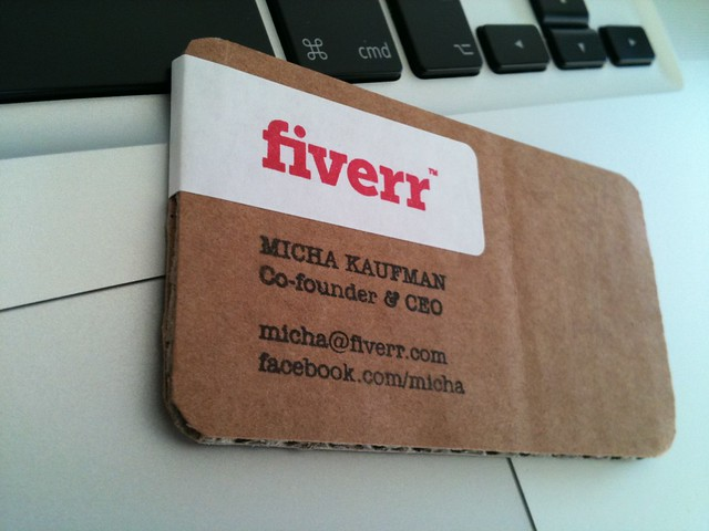 Fiverr recycled carton business card flickr photo sharing for Fiverr business cards