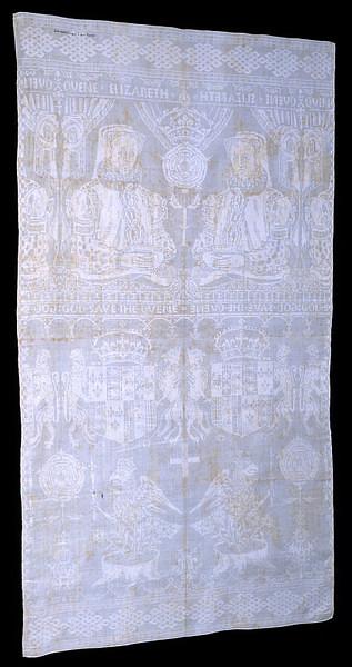 Napkin owned by Elizabeth I depicting Anne Boleyn's badge