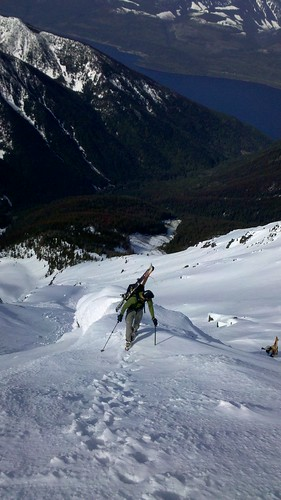 Ramin on the last slope before the peak
