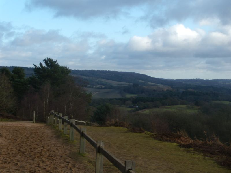 View near St Martha's Church Guildford to Gomshall