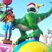 Small photo of Rexx at the Pixar Play Parade