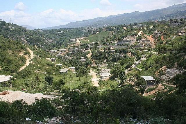 Haiti vue panoramique du futur parc naturel du canap for Canape vert haiti