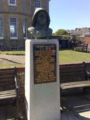 Photo of Henry Blogg black plaque