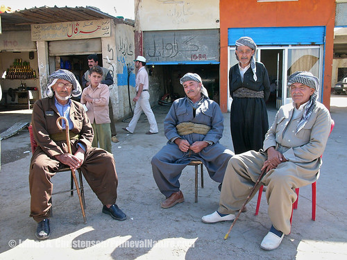 Kurdish men, Erbil, 2005