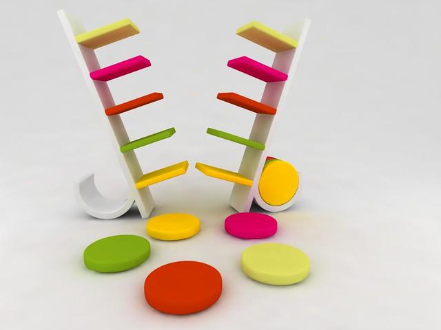 Flickriver photoset 39 mobiliario infantil kids furniture for Libreros modernos
