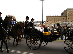 Stockholm, Princesses Victoria and Madeleine and Prince Carl Philip