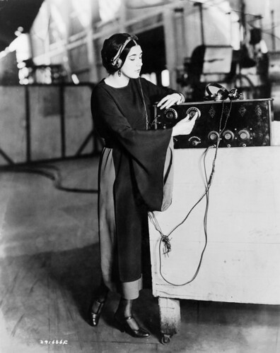 Nita monitors the airwaves for alien transmissions.