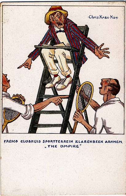Fresco in het clubhuis van tennisbaan klarenbeek