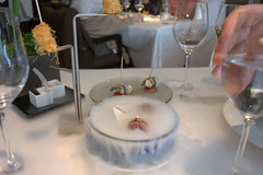 meal, dinner, restaurant, table, centrepiece, rehearsal dinner,