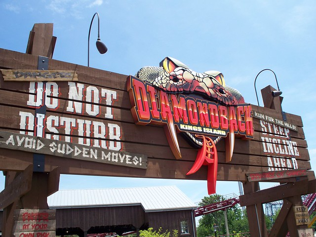 Kings Island - Diamondback Sign