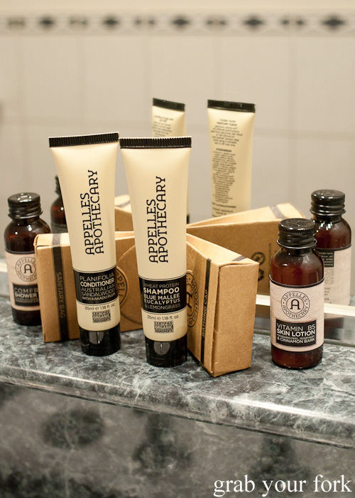 Toiletries at The Swanston Hotel Grand Mercure, Melbourne