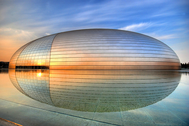 "The spaceship has landed... [Beijing Opera House (""The Egg"") - 国家大剧院]"