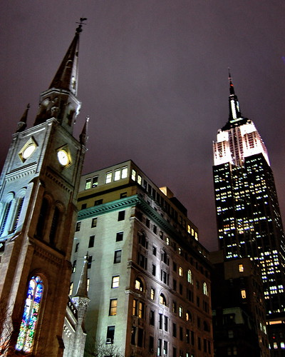 Marble Collegiate Church and the Empire State Building