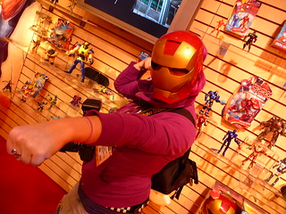 Marvel.com Photographer Judy Stephens at the Hasbro Showroom