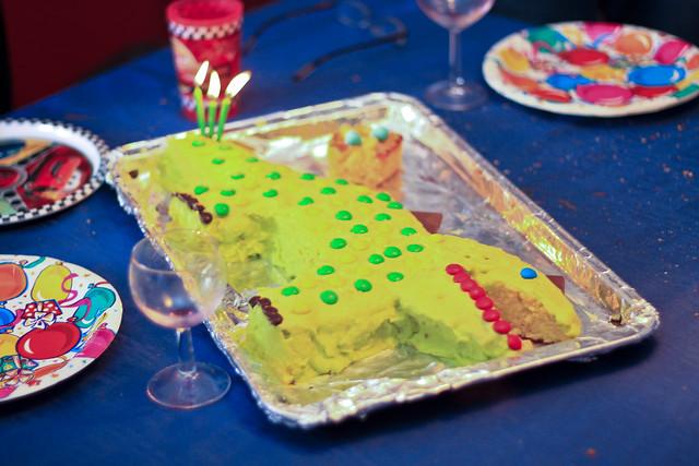 Le gâteau de fête et la mauvaise balance des blancs