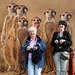 Claude and Auntie P with the meerkats by Leo Reynolds