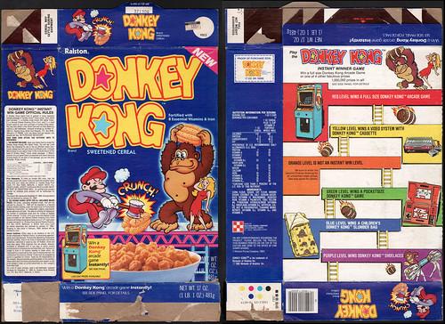Ralston - Donkey Kong cereal box - 1983