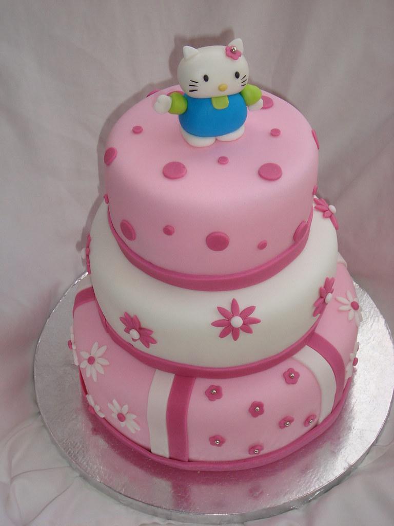 Hello Kitty Fondant Cake Ginnette Ortega Flickr