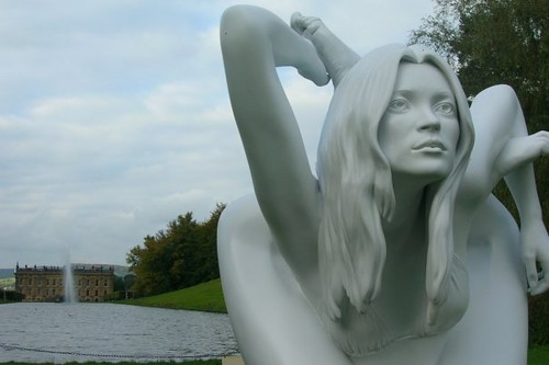 Kate Moss in Chatsworth