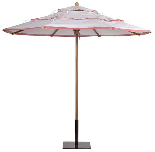 White Outdoor Umbrella 19
