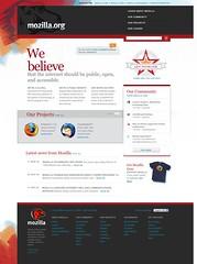 mozilla.org redesign - home