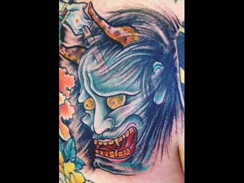 Oni mask tattoo flickr photo sharing for Electric lotus tattoo
