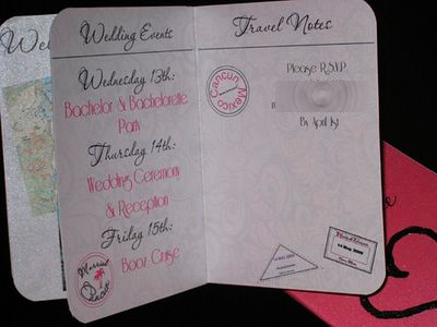 Wedding Invitation Styles on Passport Wedding Invitations   Flickr   Photo Sharing