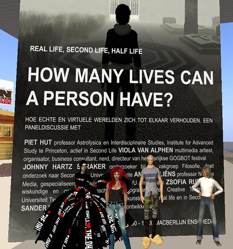 """12 june: """"REAL LIFE, SECOND LIFE, HALF LIVE - How many lives can a person have?"""""""""""