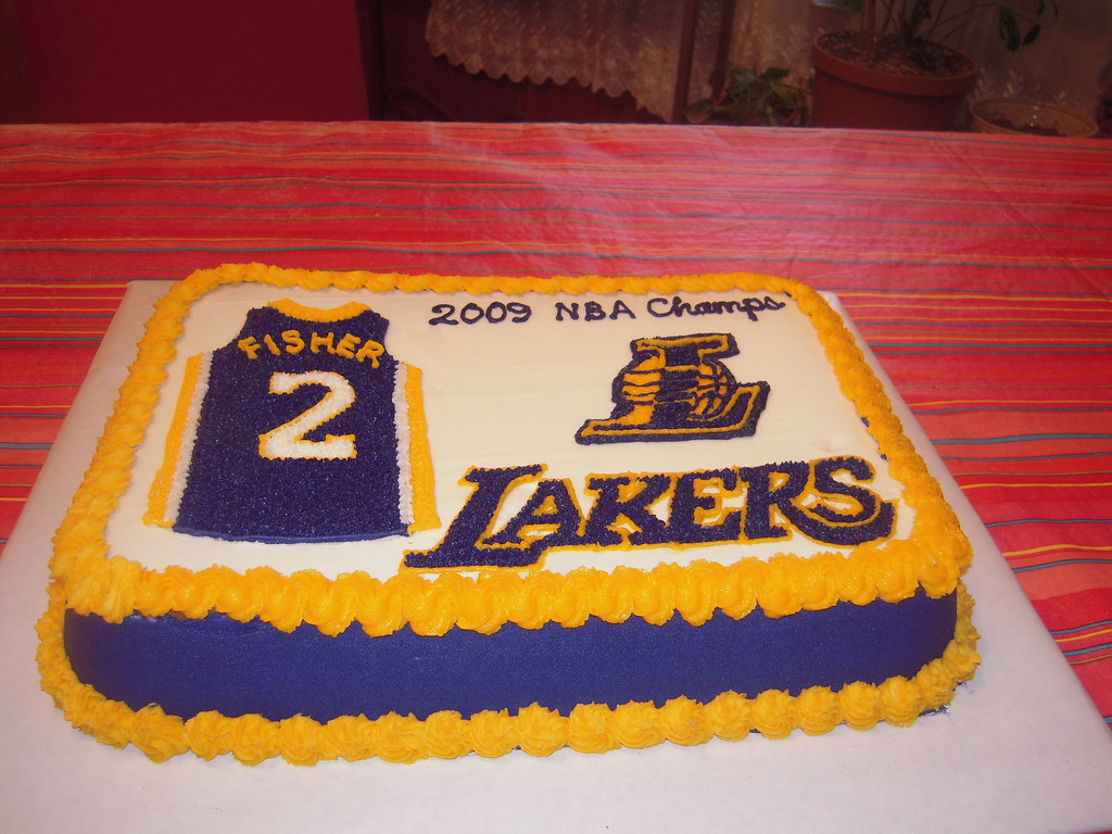 Lakers Cake 2 A Photo On Flickriver