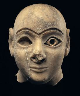 A Sumerian Head of a Worshipper