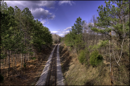 railroad trees virginia nikon war norfolk tracks petersburg civil national american and battlefield hdr railroadtracks photomatix nikond90 nikon1685vr norfolkandpetersburgrailroad