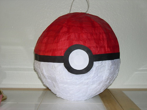 Pokeball Pinata by pillarofblue