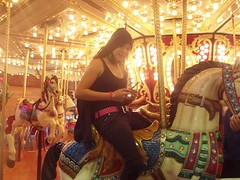 Texting on the carousel