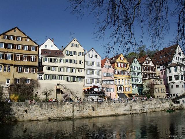 Front houses of Tübingen on Neckar (Germany)