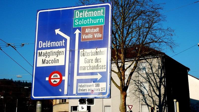 Signpost in Biel