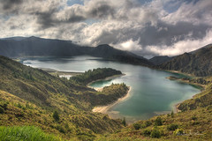 cloud, fjord, mountain, reservoir, water, valley, nature, mountain range, loch, lake, hill, body of water, highland, tarn, fell, landscape, crater lake, wilderness, mountainous landforms,
