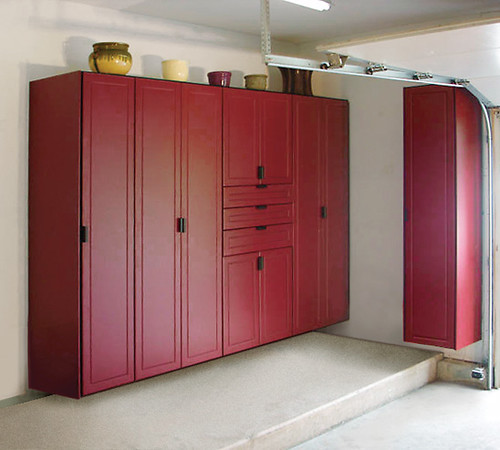 Red Line Big Red Garage Cabinets With Drawers And A Off