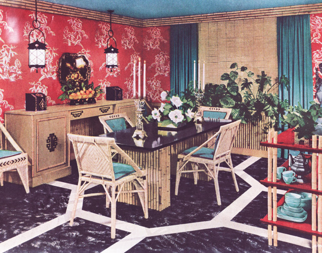 Vintage Modern Home Decor 1950: 1950 Asian-style Dining Room