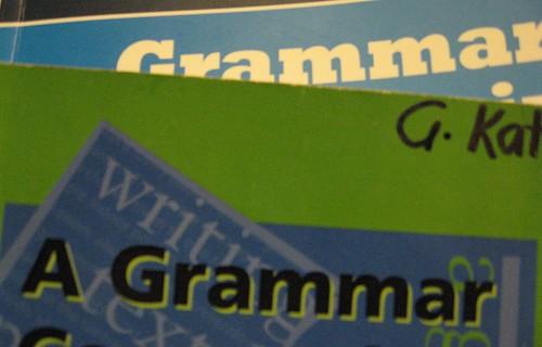 12Jun09 ~ Grammar
