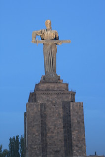 Image of  Mother Armenia  near  Yerevan. statue yerevan erevan motherarmenia armenua
